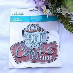 2/$10Hot Coffee Shop Sticker Crafting